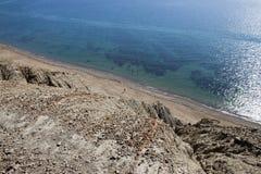 Вид на море от высокой горы Стоковая Фотография RF