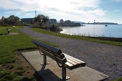 Вид на море от морского парка в Blaine, Вашингтоне стоковое изображение rf
