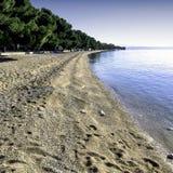 Вид на море - Tucepi стоковая фотография rf