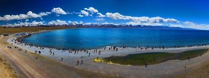 Вид на озеро Namtso Стоковые Изображения