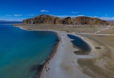 Вид на озеро Namtso Стоковая Фотография