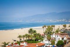 Вид на океан в Санта-Моника стоковые фотографии rf