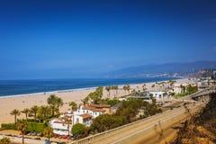 Вид на океан в Санта-Моника стоковое фото rf