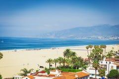 Вид на океан в Санта-Моника стоковые изображения