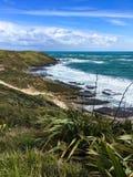 Вид на океан от побережья стоковые фотографии rf