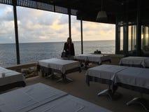 Вид на океан от ресторана Лиссабона Ривьеры Стоковые Изображения