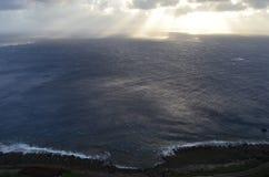 Вид на океан на северозападном побережье острова орхидеи Lanyu стоковое изображение