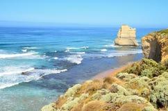 Вид на океан с массой утеса 12 апостолов Австралии Стоковые Фото