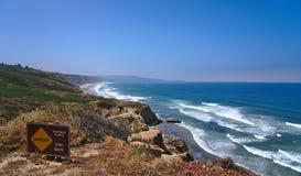 Вид на океан Cliffside стоковые фото