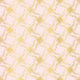 Вид решетки розового золота роскоши орнаментальный, безшовный нарисованный вектор, иллюстрация вектора