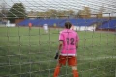 Вид сзади голкипера футбола Стоковое Фото