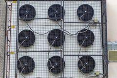 Вид систем кондиционера на здании Стоковые Фотографии RF