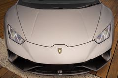 Вид спереди автомобиля спорт Lamborghini Стоковое Изображение