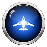 Вид спереди значка взлета самолета иллюстрация штока