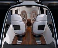 Вид спереди интерьера трутня пассажира Передние кожаные повернутые места отсталыми бесплатная иллюстрация