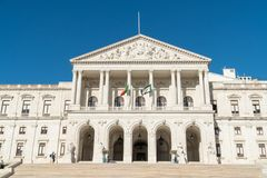Вид спереди португальского парламента, дворец StBenedict Стоковое Фото