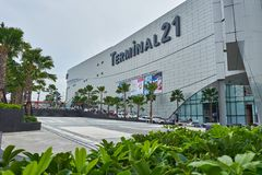 Вид спереди терминала 21 Паттайя торгового центра стоковое фото