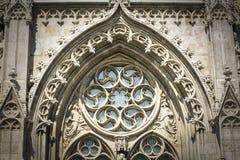Вид спереди церков Matthias в Будапеште стоковые изображения rf
