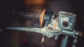 Вид спереди черного Handlebar велосипеда стоковые изображения