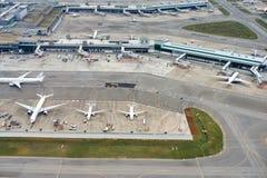 Вид с воздуха авиапорта Changi Стоковое Фото