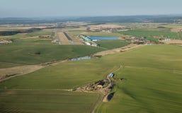 Вид с воздуха авиапорта Pribram весной Стоковое Изображение RF