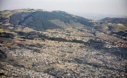 Вид с воздуха Аддис-Абеба, Эфиопии стоковое фото rf