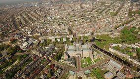 Вид с воздуха Амстердама с Rijksmuseum