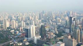 Вид с воздуха Бангкока сток-видео