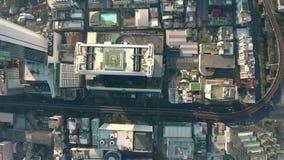 Вид с воздуха Бангкока видеоматериал