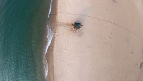 Вид с воздуха бани на береге Lake Baikal сток-видео