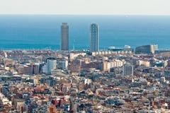 Вид с воздуха Барселона Стоковые Фотографии RF