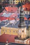 Вид с воздуха башни католической церкви в Bolkow Стоковые Изображения