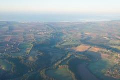 Вид с воздуха береговой линии Лациа на зоре Стоковое Изображение