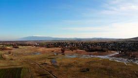 Вид с воздуха болгарской деревни видеоматериал