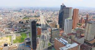 Вид с воздуха бульвара Богота El Dorado акции видеоматериалы