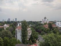 Вид с воздуха Бухареста, Румынии стоковые фотографии rf
