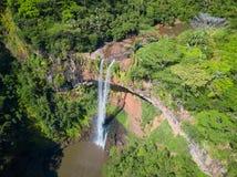 Вид с воздуха водопада Chamarel, острова Маврикия стоковое изображение rf