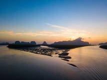 Вид с воздуха восхода солнца на запрете Сэм Chong Tai стоковая фотография rf