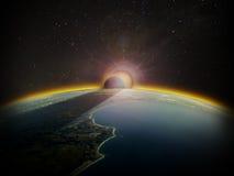 Вид с воздуха восхода солнца 1 Стоковые Изображения