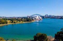 Вид с воздуха гавани Сиднея Стоковые Изображения
