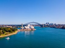 Вид с воздуха гавани Сиднея Стоковое Изображение RF