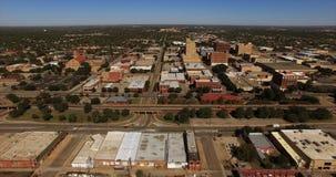 Вид с воздуха горизонта города Абилина Техаса городской акции видеоматериалы