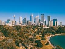 Вид с воздуха горизонта города Сиднея Стоковая Фотография