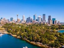 Вид с воздуха горизонта и парка Сиднея Стоковые Фото