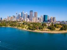 Вид с воздуха горизонта и сада Сиднея Стоковая Фотография RF