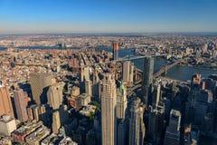 Вид с воздуха горизонта с небоскребами Стоковая Фотография
