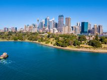 Вид с воздуха горизонта Сиднея Стоковая Фотография