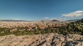 Вид с воздуха города Афин, от акрополя Парфенона, Греция Стоковая Фотография