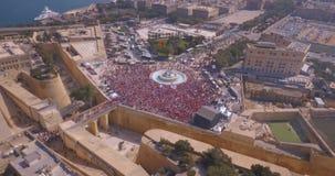Вид с воздуха города Валлетты акции видеоматериалы