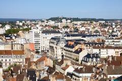 Вид с воздуха города в бургундском, Франции Дижона стоковое фото rf